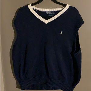Polo by Ralph Lauren v neck sleeveless sweater